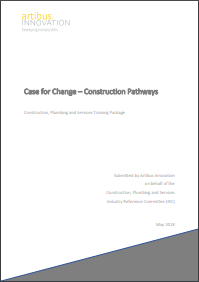 Case for change Construction Pathways