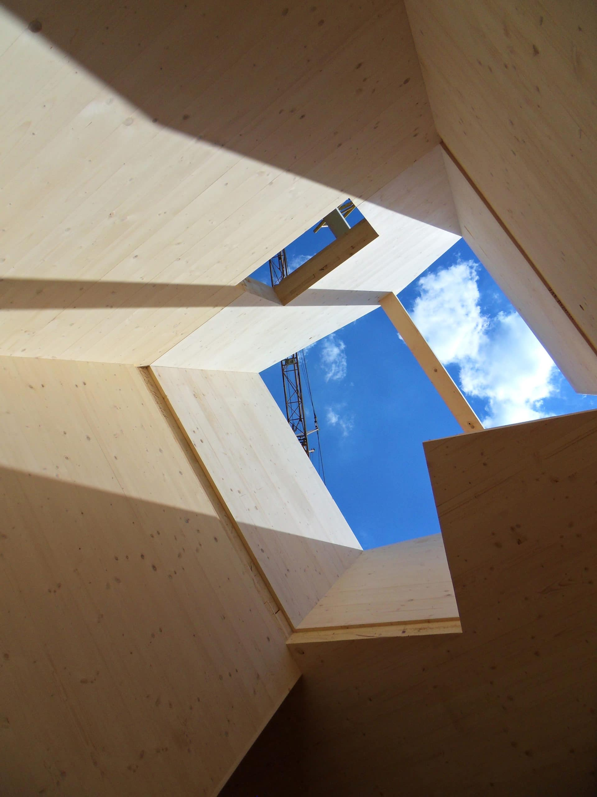 timber construction with skylight