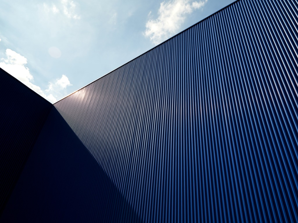 corrugated roof and sky
