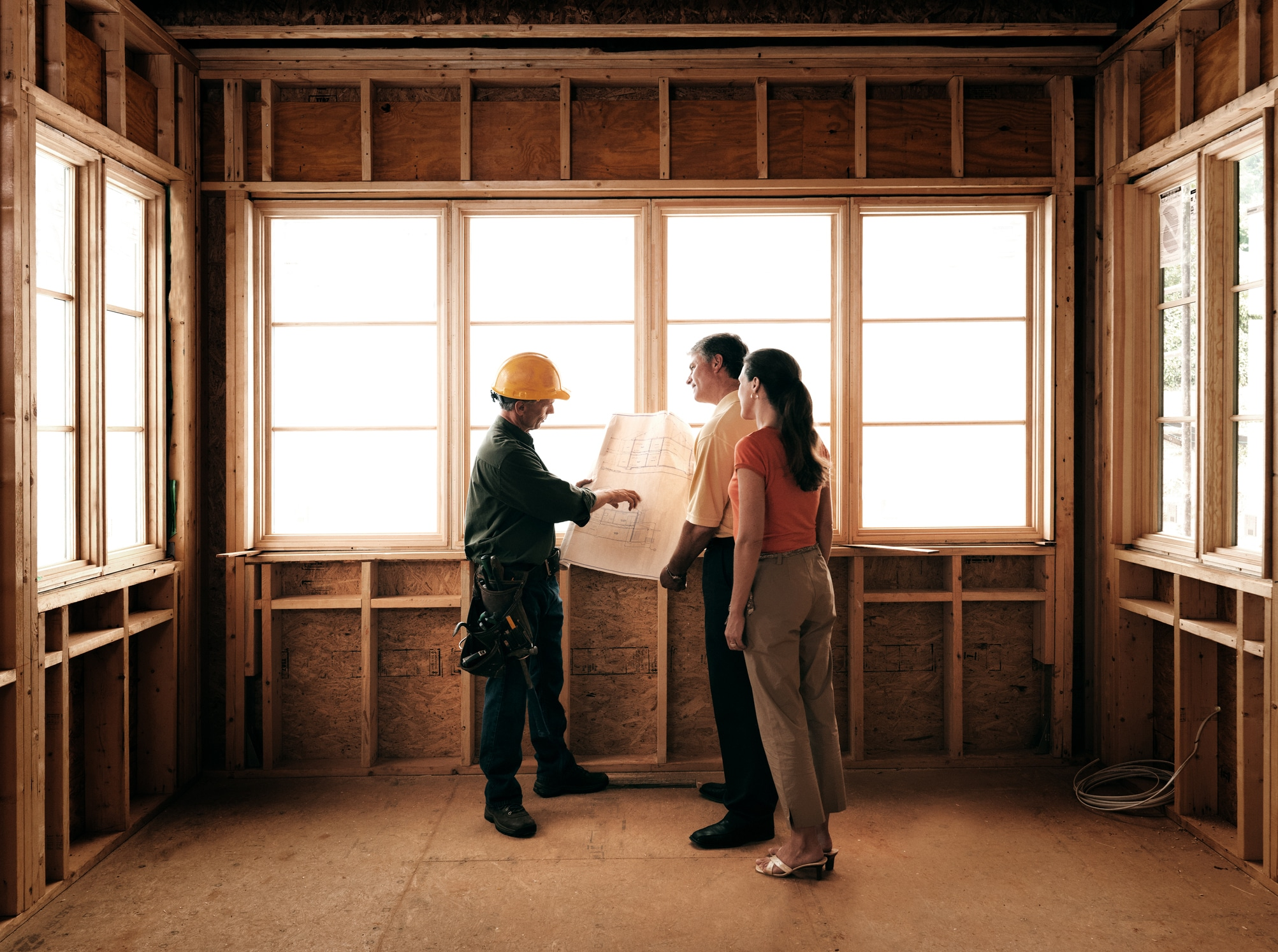 builder with clients