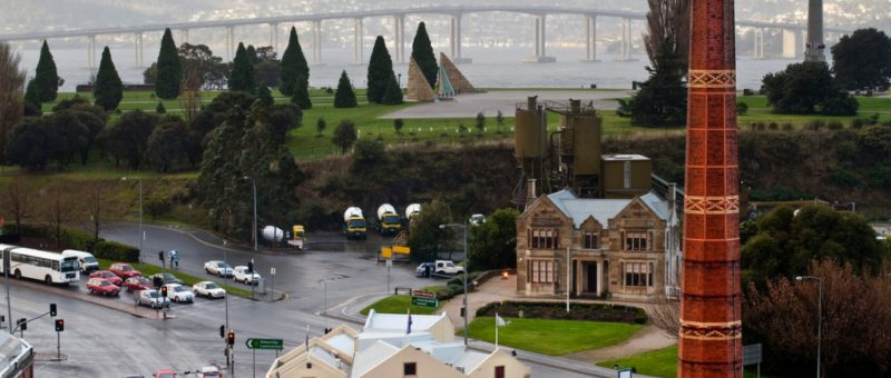 tasman bridge and shot tower